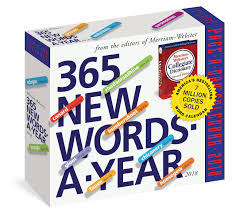 amazon com 365 new words a year page a day calendar 2018