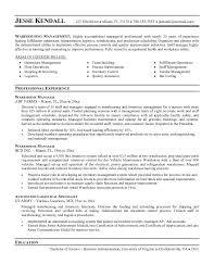 Warehouse Manager Resume Templates Warehouse Manager Resume Berathen Com