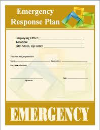 emergency response plan template u2013 word documents
