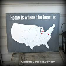 United States Travel Map by Usa Map Home Is Where The Heart Is Personalized Custom