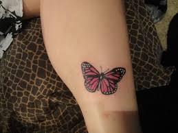 butterfly on leg