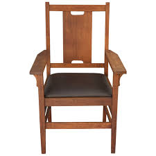 h back arts and crafts chair attributed to gustav stickley for