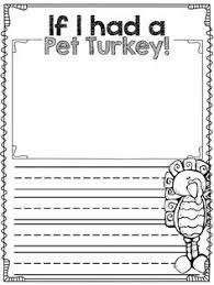 thanksgiving writing template for kindergarten november