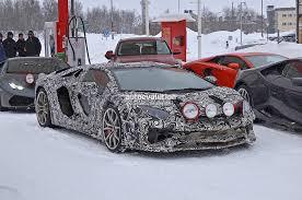 tyga lamborghini aventador spyshots lamborghini aventador sv roadster spotted during winter