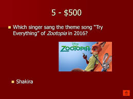 theme song zootopia water water everywhere ppt download