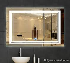 bathroom mirror with led lights 2018 led bathroom mirror 24 inch x 36 inch lighted vanity mirror