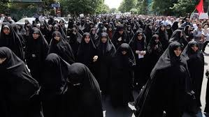 world why iranian women are wearing white on wednesdays