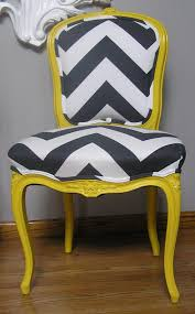 Yellow Chairs Upholstered Design Ideas Yellow Louis Chair With Chevron For The Of Chairs