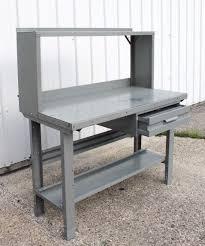 industrial workbench steel penco vintage work bench station bar