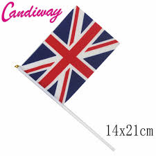 The England Flag 14x21cm 5pcs The Small British Flag Hand Waving Flags With Plastic