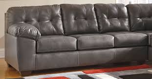 Gray Leather Sectional Sofa by Latest Charcoal Gray Leather Sectional Sofa 5072