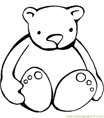 teddy bear coloring 001 10 coloring free
