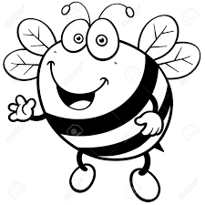 vector illustration cartoon bee coloring book royalty free