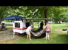 Awning Room Time Lapse Of Us Setting Up Our Arb Awning U0026 Touring Room Youtube