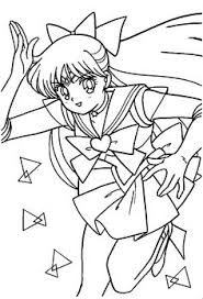 sailor venus coloring pages funycoloring