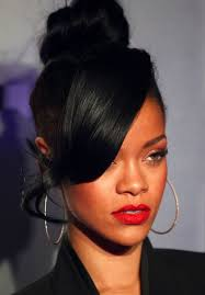 50 best rihanna hairstyles bangs high bun and hair style