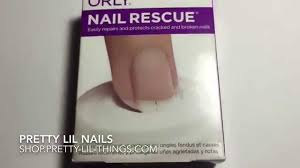 orly nail rescue kit tutorial by pretty lil nails youtube