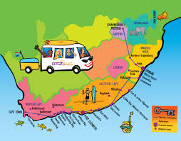Pretoria South Africa Map by Baz Bus Ticket Information