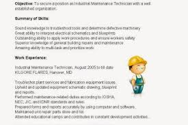 Sample Resume Maintenance Technician by Sample Resume Building Maintenance Resume Sample Maintenance