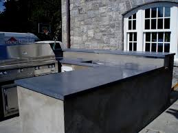 outdoor kitchen concrete countertops brooks custom