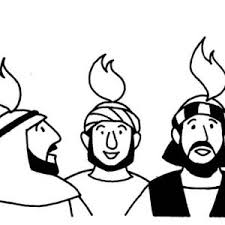 holy spirit on the followers of jesus in pentecost coloring page
