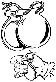 castanet coloring page which shows how to play it music
