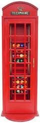 Red Phone Booth Cabinet London Phone Booth Billiard Ball Rack Cabinet