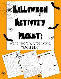 halloween activities acrostic poem crossword puzzle word search