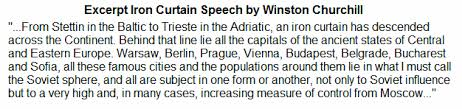 What Is The Iron Curtain Speech Iron Curtain Us History For Kids