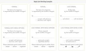 response card wording etiquette and wording smudgeink