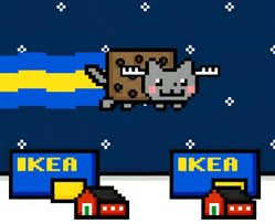 ikea gif ikea nyan cat gif find download on gifer