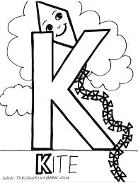 uppercase coloring pages letter k pre kindergarten coloring