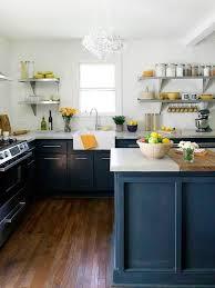 Kitchen No Cabinets Navy Blue Kitchen Cabinets