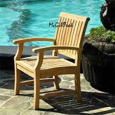 Chairs Patio Titan Teak Outdoor Chair Patio Dining Arm Chair