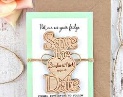 Rustic Save The Date Magnets Wedding Save The Dates Etsy