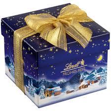 lindt christmas magic chocolate present box 250g peppery spot