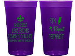 personalized mardi gras personalized plastic cups mardi gras 22 ounce