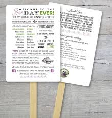 wedding program fan kits diy wedding program fan kit best day order of service fan