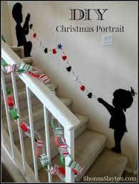 christmas diy kids silhouette stairs portrait shonna slayton