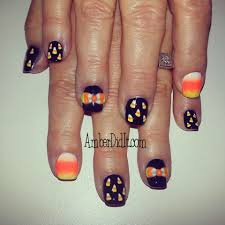 amber did it client nails halloween edition