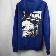 supreme x raymond pettibon hoodie blue xl used u2013 famous grail