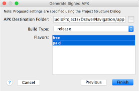 create apk sign your app android studio