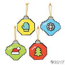 pixelated christmas ornament craft kit oriental trading