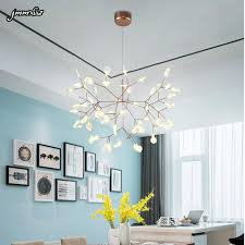 lustre chambre post moderne branches feuille restaurant lustre chambre diffuse