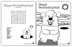 groundhog awesomeness kids coloring seek