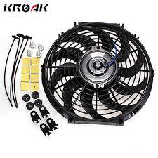10 inch radiator fan universal 10inch 12v 80w car auto slim reversible electric radiator