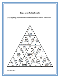 exponent rules puzzle math pinterest puzzles math and algebra