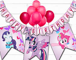 My Little Pony Party Decorations Little Pony Birthday My Little Pony Party My Little Pony