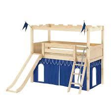 Castle Bunk Bed With Slide Castle Loft Beds Maxtrix Kids