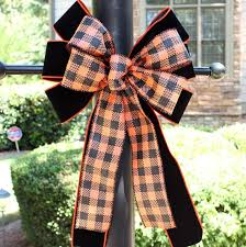 plaid black velvet outdoor bows outdoor